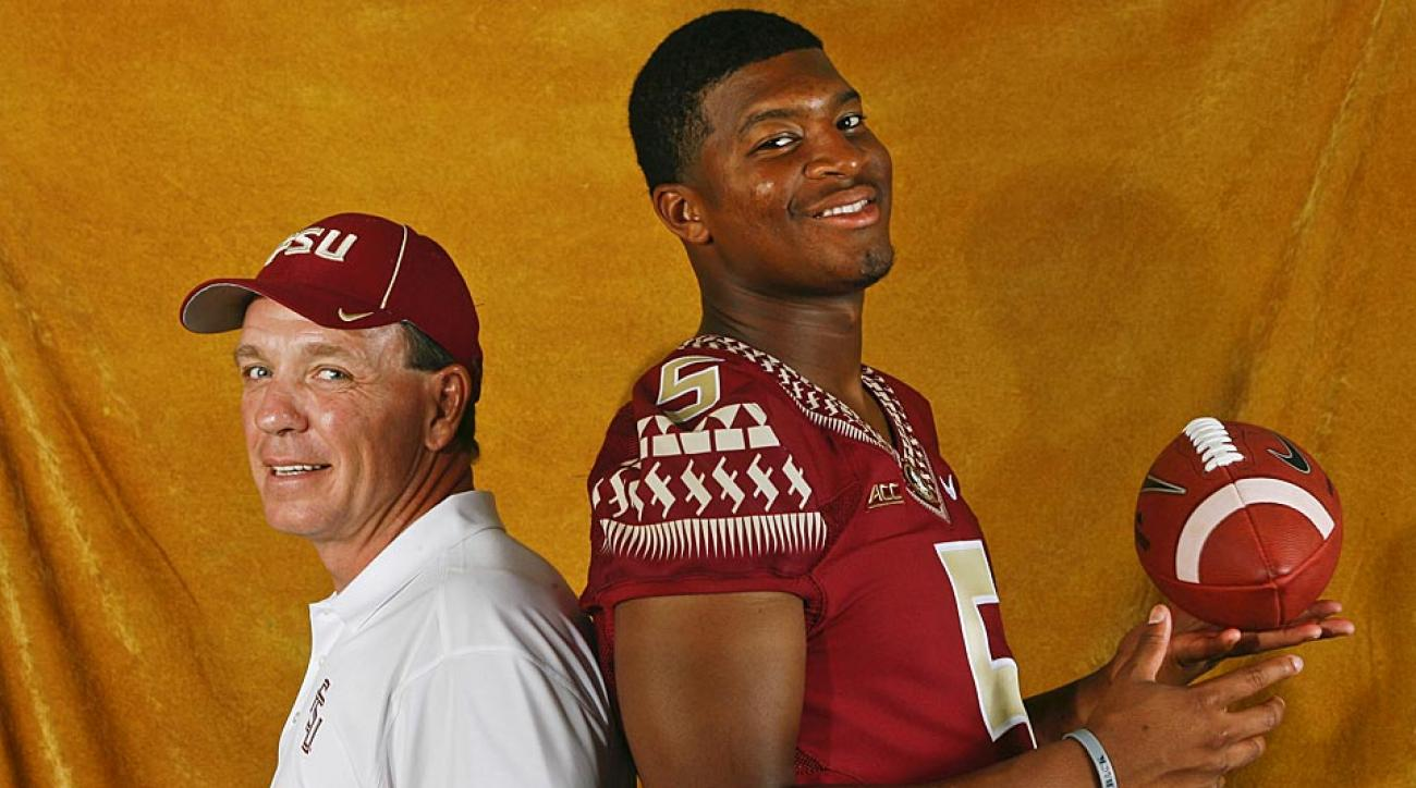 Florida State head coach Jimbo Fisher and quarterback Jameis Winston finished the 2013 season as undefeated national champions. They begin 2014 ranked No. 1.