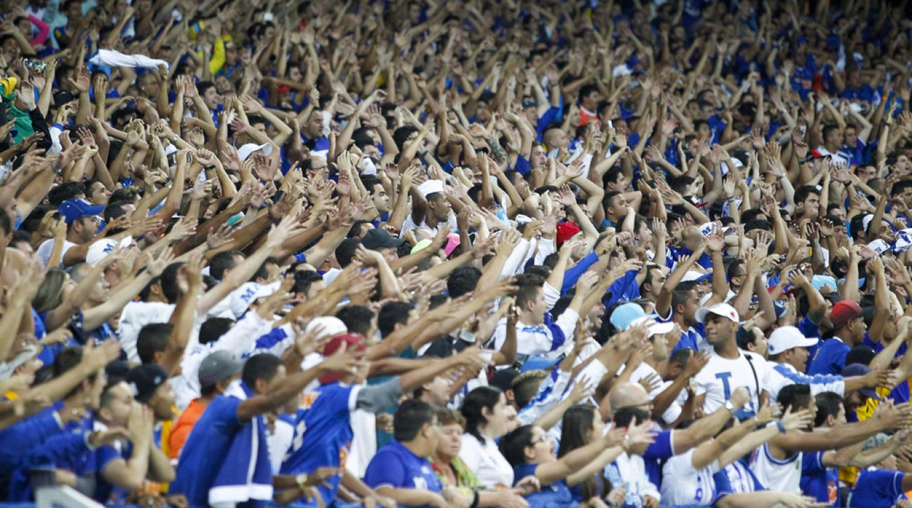 Cruzeiro fans pack the Estadio Mineirao to root for their club, which currently leads the Brazilian Serie A.