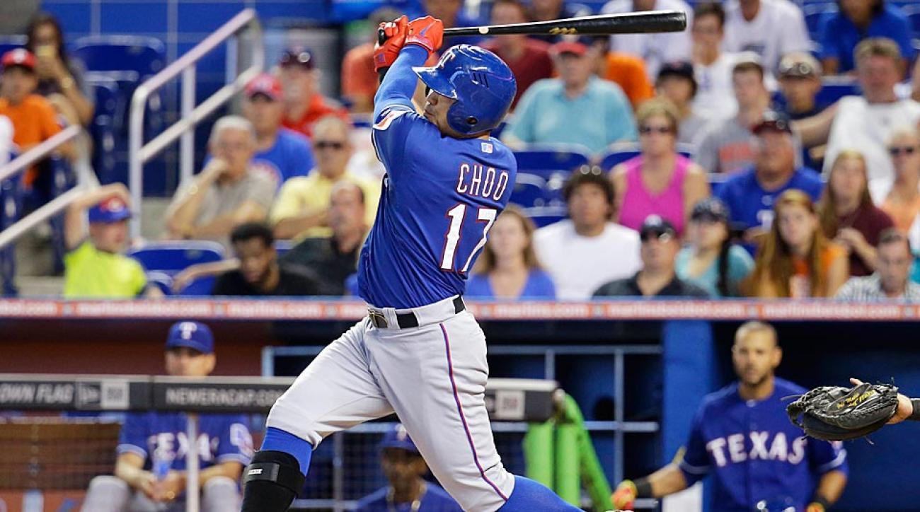 Rangers outfielder Shin-Soo Choo will have surgery to remove bone spurs in his left elbow and will miss the rest of the 2014 season.