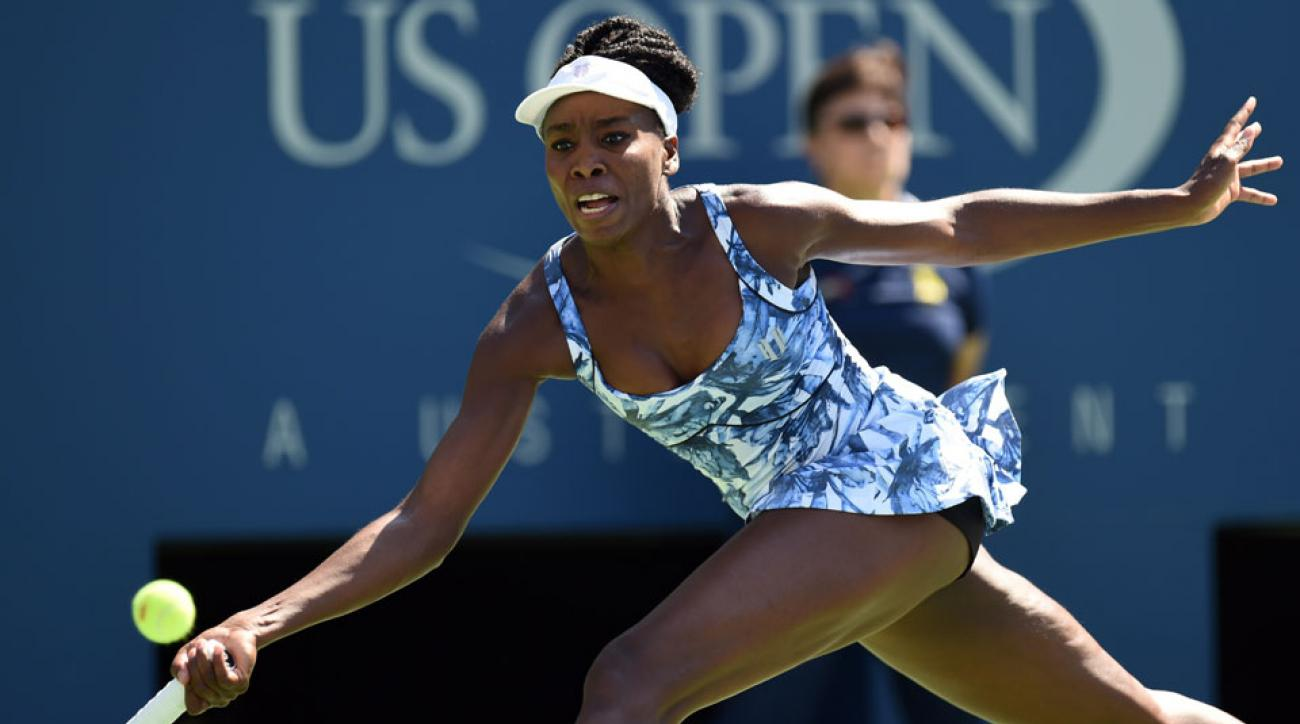 Venus Williams will take the court in a match under the lights against No. 78 Timea Bacsinszky.