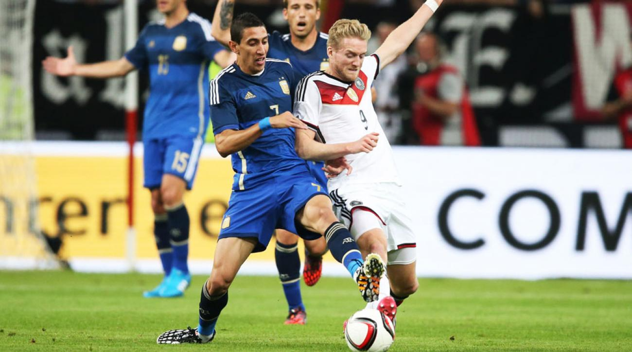 Angel di Maria scored a goal and chipped in three assists for Agentina against Germany on Wednesday.