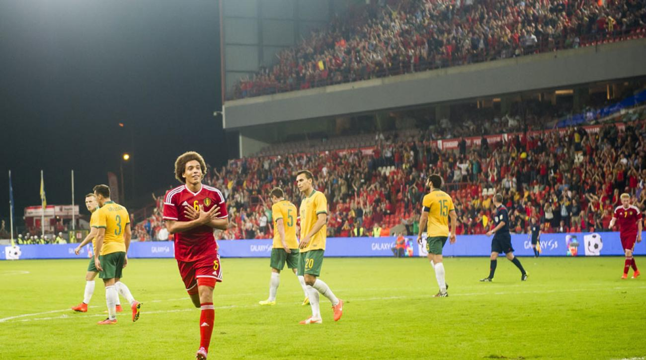 Axel Witsel scored for Belgium as it defeated Australia 2-0 in a friend on Thursday.