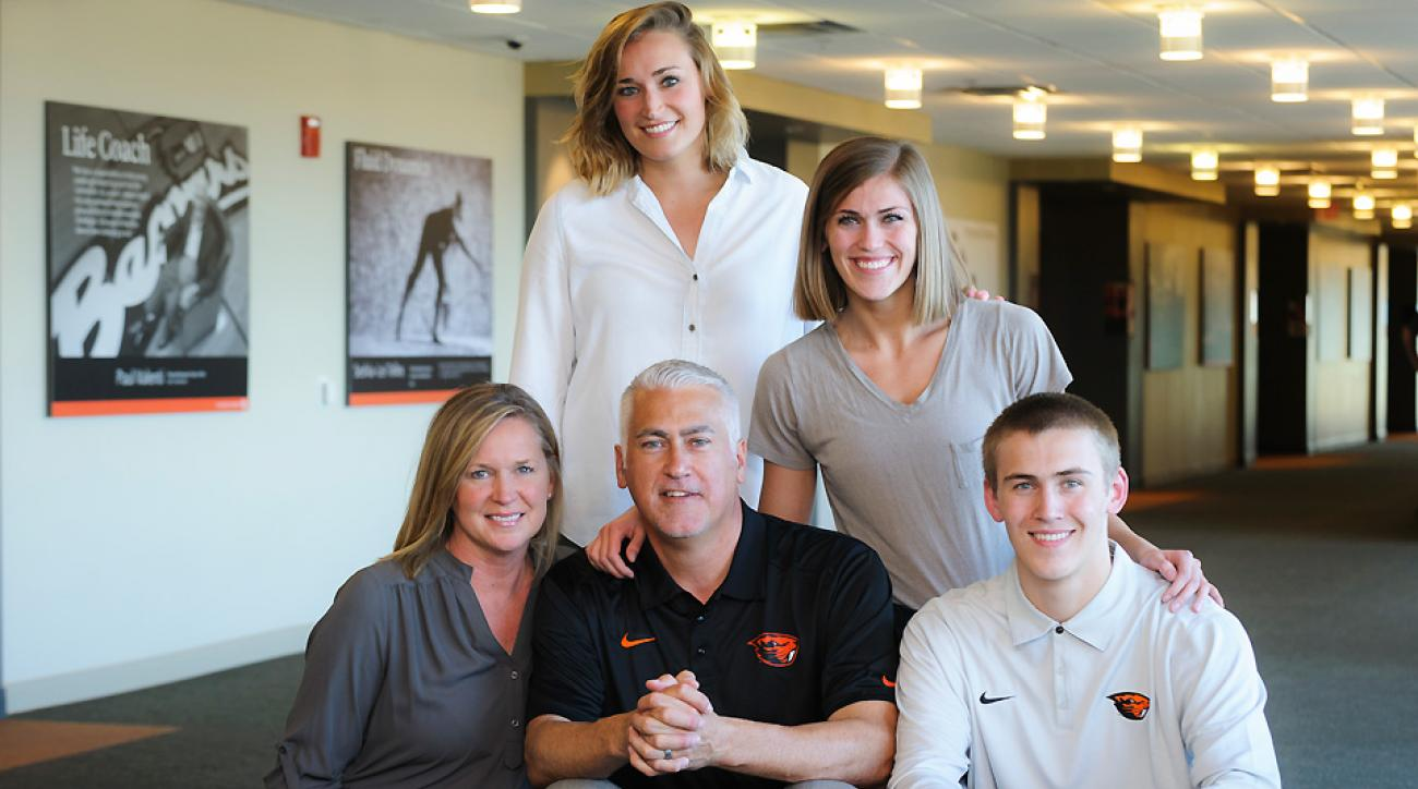 The Tinkle family, clockwise from top: former Stanford basketball player Joslyn, Gonzaga basketball player Elle, Tres, Wayne and Lisa.