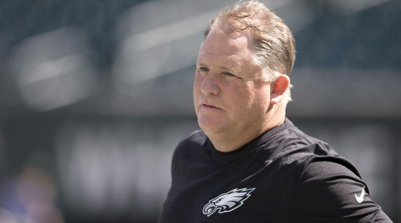 Eagles coach Chip Kelly was 3-of-7 on challenge flags last season