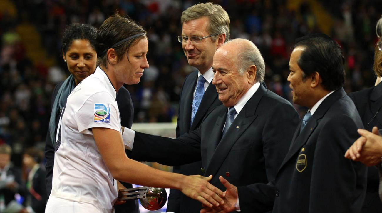U.S. women's national team star forward Abby Wambach has encountered her fair share of sexism from FIFA and president Sepp Blatter.