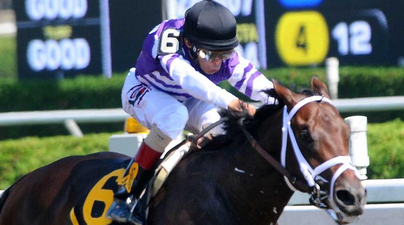 Jockey John Velazquez rode Competitive Edge to victory in the Hopful Stakes at Saratoga on Sept. 1. Now the colt is a Kentucky Derby favorite.