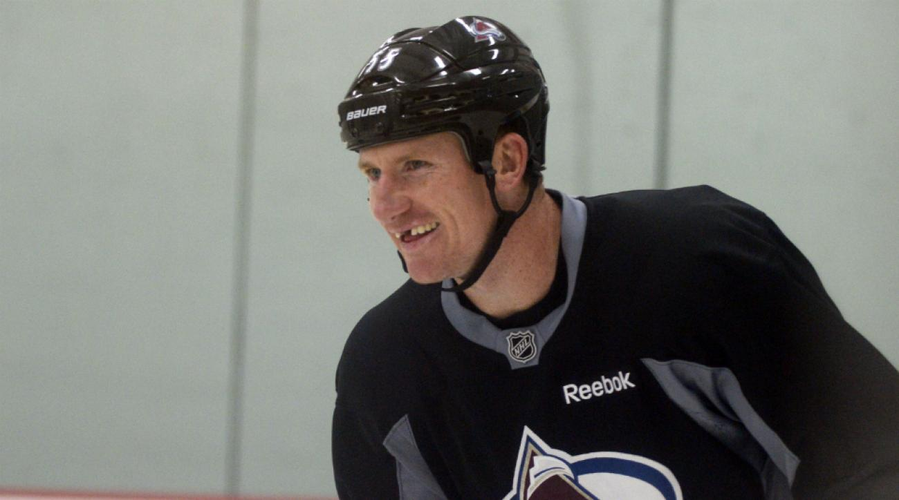 Cody McLeod (pictured) signed a contract extension with the Avalanche