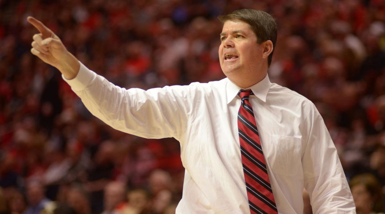 Justin Jackson has committed to UNLV and coach Dave Rice (pictured)