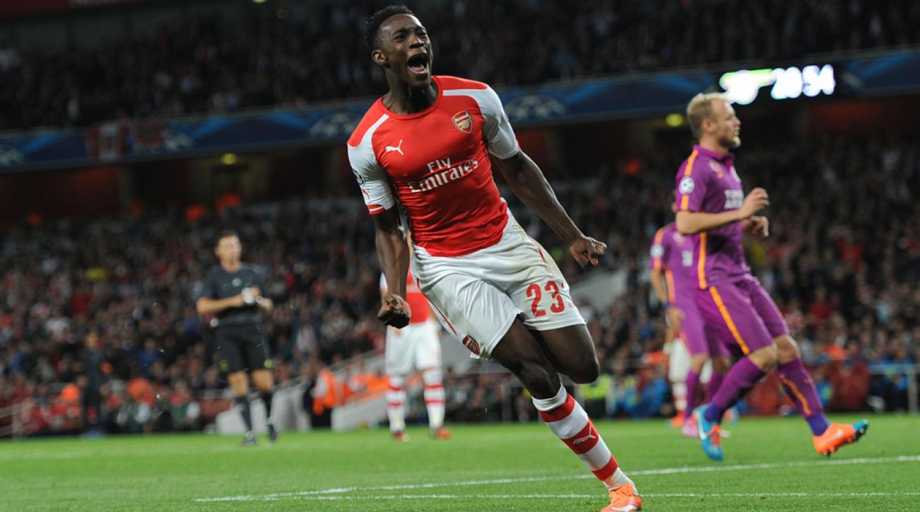 Danny Welbeck notched a hat trick for Arsenal against Galatasaray in the Champions League on Wednesday.