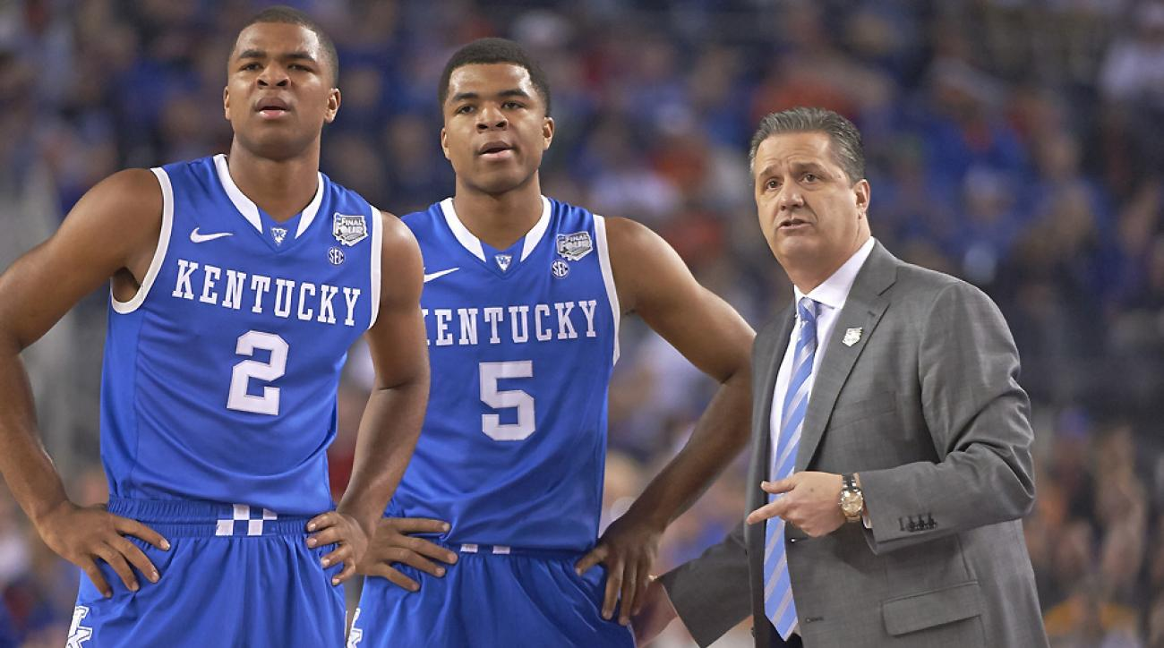 John Calipari (right) will have to figure out how to rotate his loaded roster effectively.