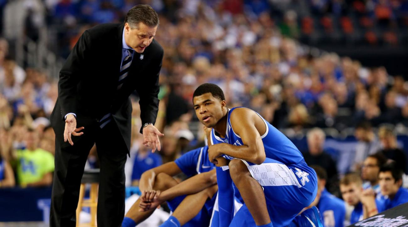 Andrew Harrison (right) returns for John Calipari in 2014-15