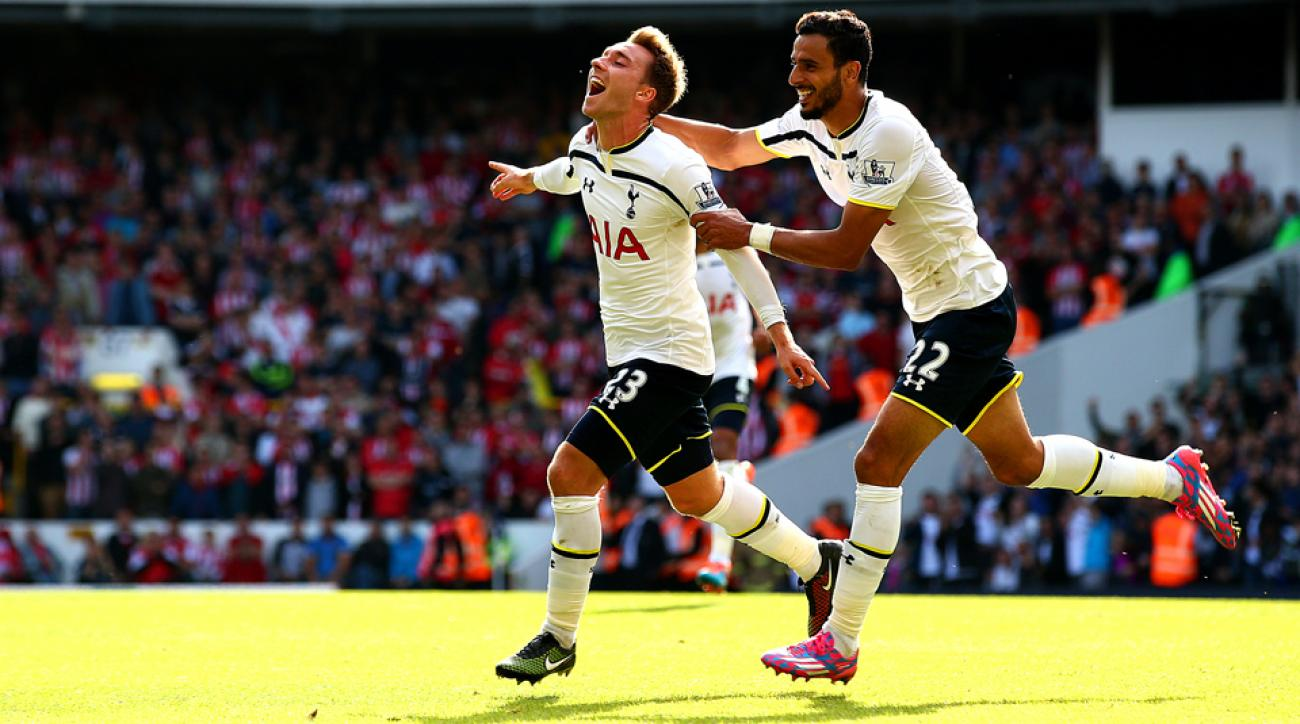 Christian Eriksen, left, and Nacir Chadli have been part of Tottenham's resurgence under Mauricio Pochettino.