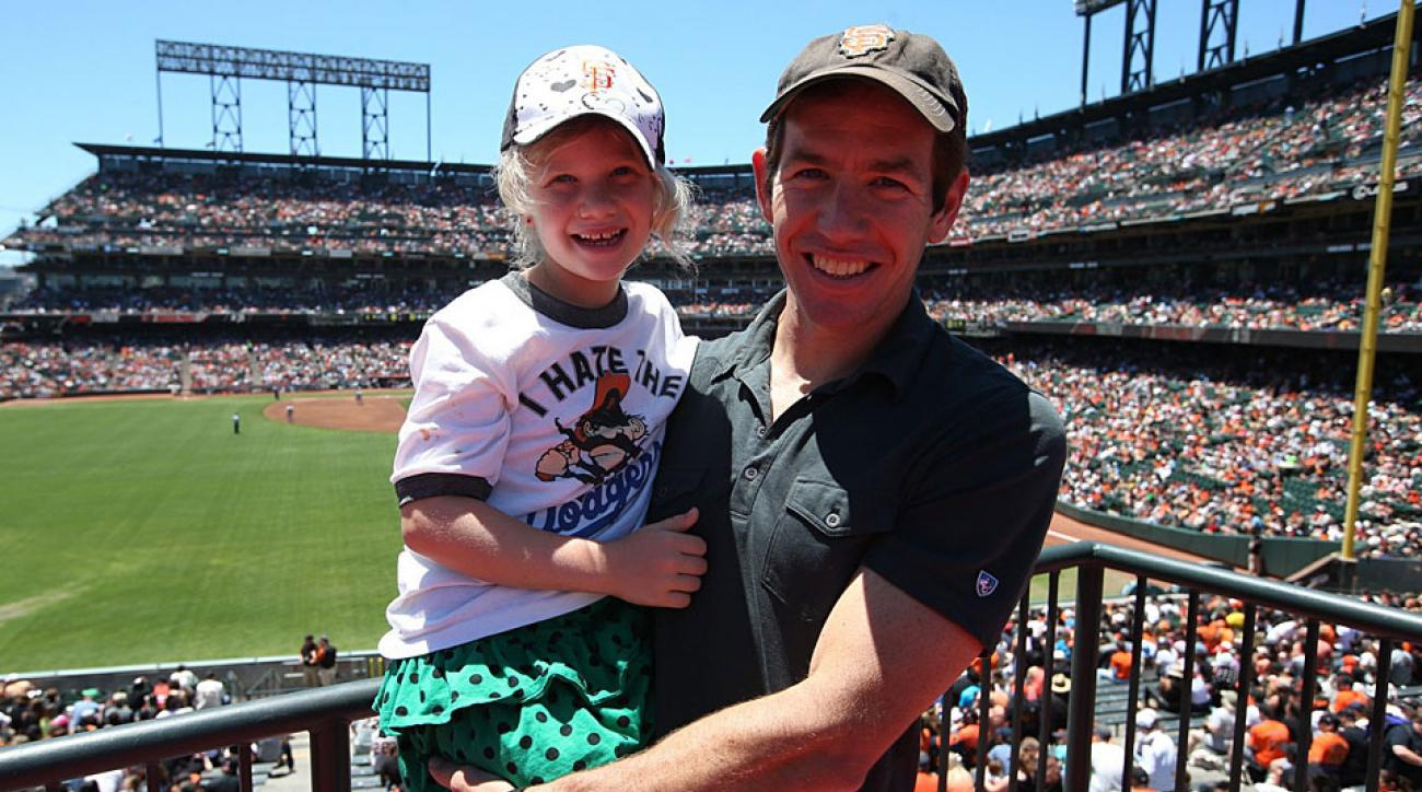 Chris Ballard and his oldest daughter, Callie, at a recent San Francisco Giants game.