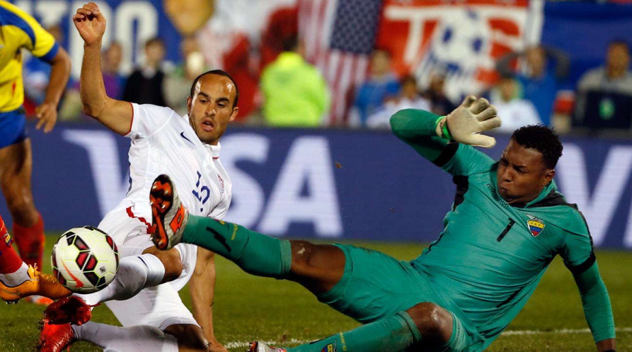 Landon Donovan came within inches of scoring in his USA finale on Friday vs. Ecuador.