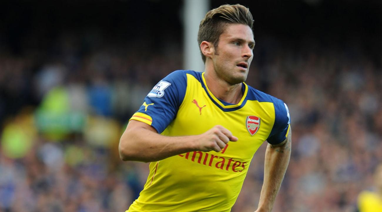 Arsenal's Olivier Giroud is 'ahead of schedule' in his recovery from a broken leg