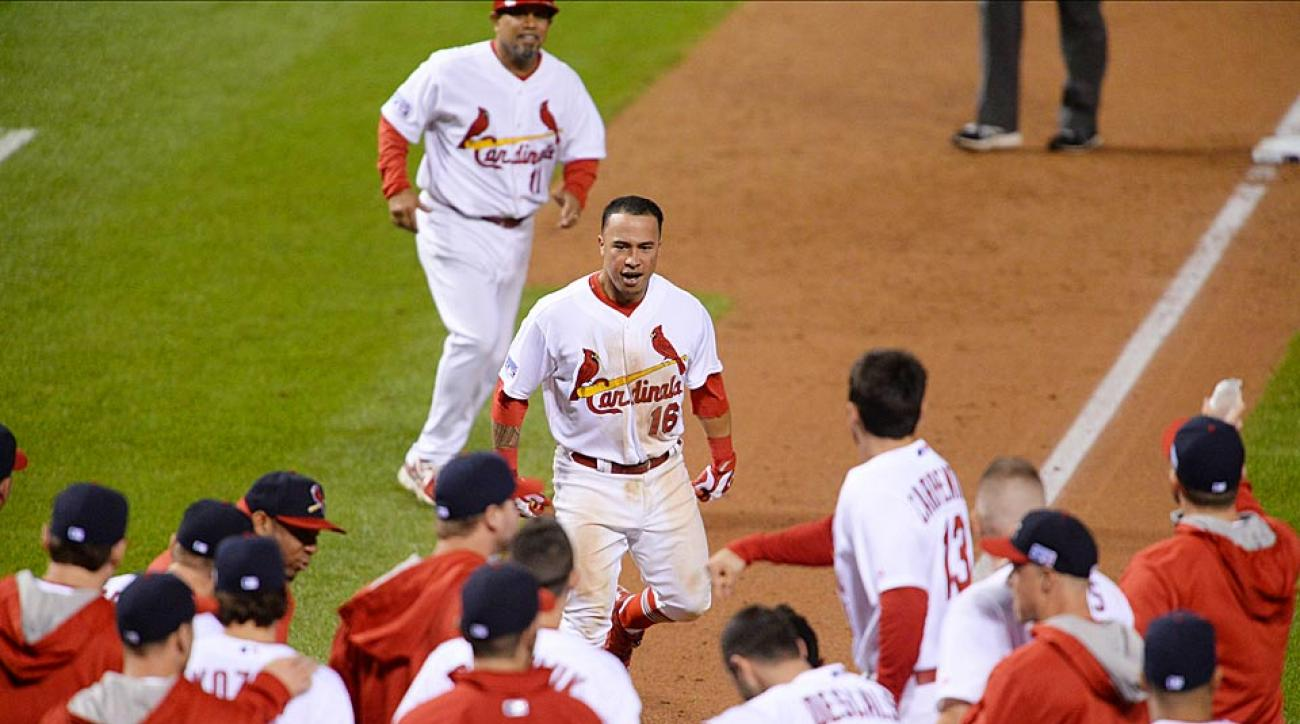 Kolten Wong's 9th-inning walk-off blast lifted the Cardinals to a 5-4 win over the Giants in Game 2 of the NLCS and leveled the series at 1-1.