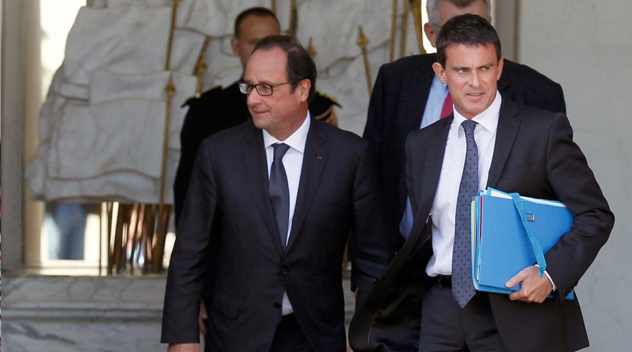 French President Francois Hollande and French Prime Minister Manuel Valls