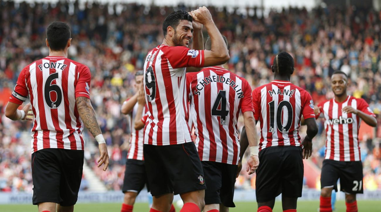 Led by Italian striker Graziano Pelle (9), Southampton has raced out to a hot Premier League start despite a summer roster purge.