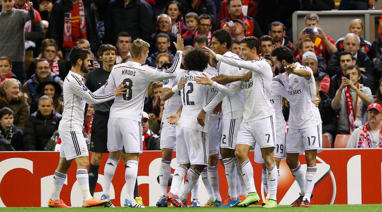 Real Madrid coasted to victory at Anfield, dominating Liverpool 3-0 in the Champions League.
