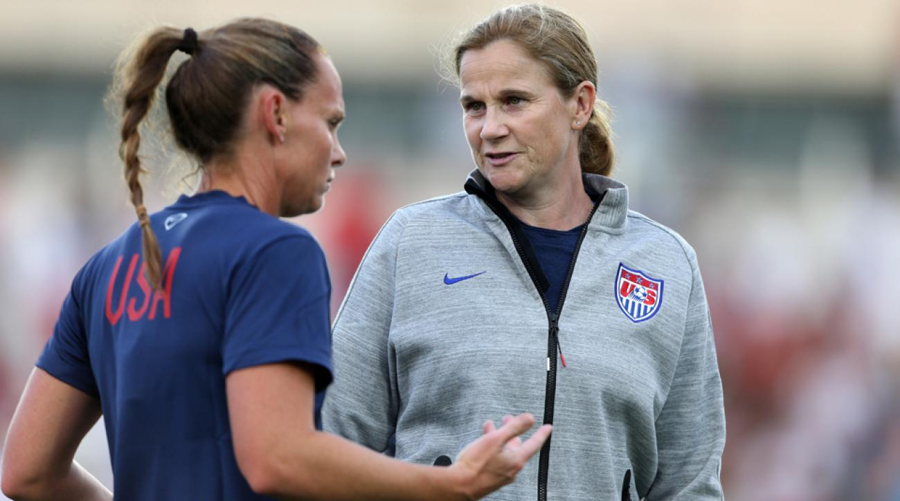 U.S. women's national team coach Jill Ellis, right, is tasked with leading the Americans back to World Cup glory for the first time since 1999.