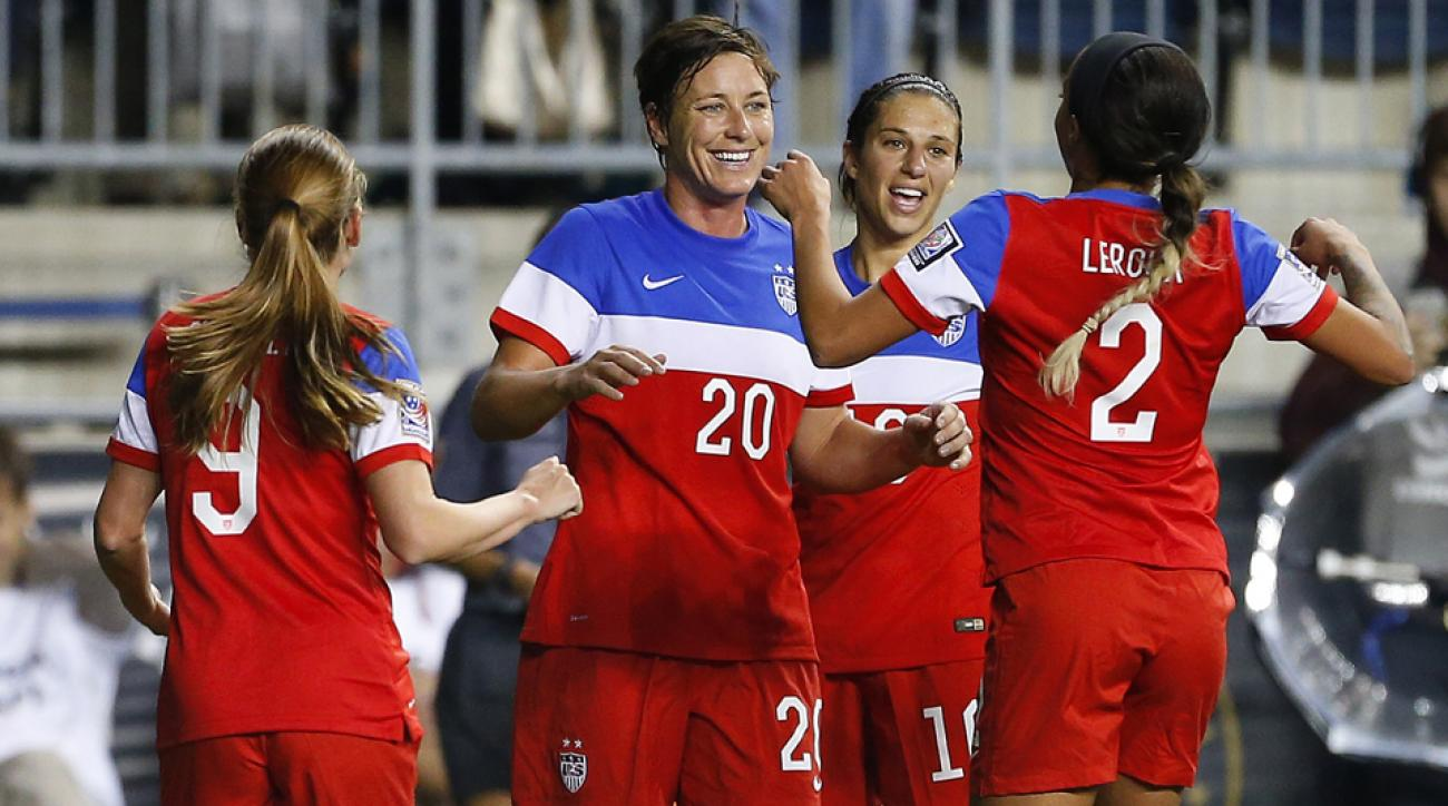 Abby Wambach (20), and several of her U.S. women's national team teammates have been outspoken on the turf vs. grass debate encompassing the 2015 Women's World Cup.