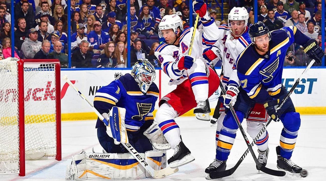The St. Louis Blues and the New York Rangers have both suffered a handful of inuries to key players.