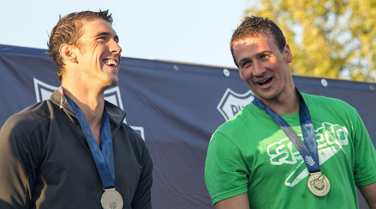 U.S. swimmers Michael Phelps (left) and Ryan Lochte (right)