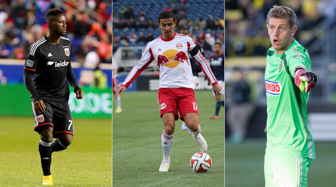 From left, Eddie Johnson, Tim Cahill and Zac MacMath are three of the biggest names up for grabs in Wednesday's MLS Expansion Draft.
