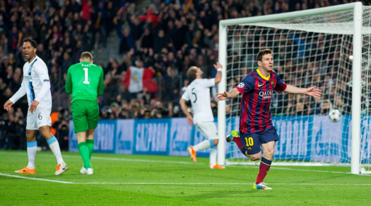 Lionel Messi and Barcelona got the better of Manchester City in last season's Champions League knockout stage. The sides will meet again in the 2014-15 round of 16.