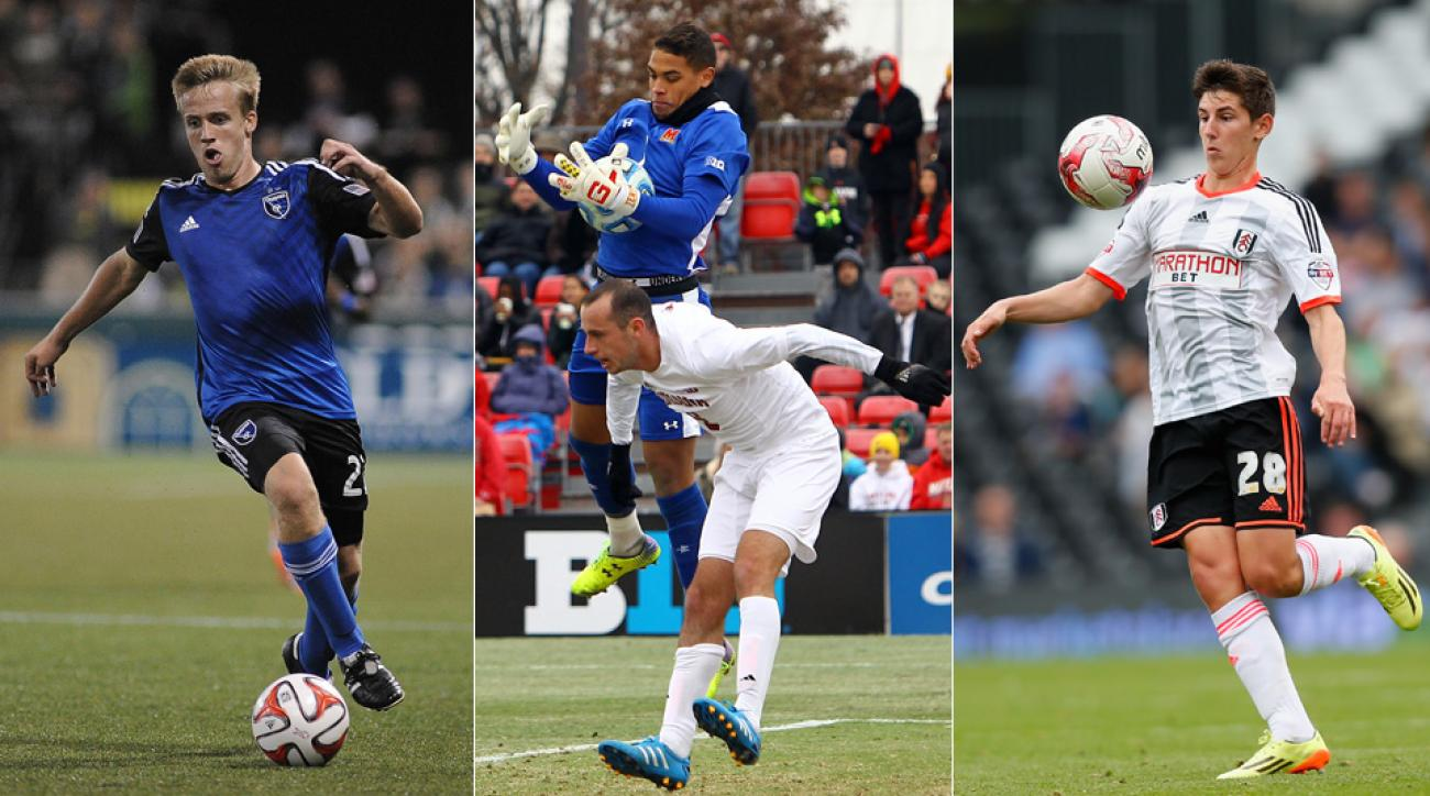 From left, Tommy Thompson, Zack Steffen and Emerson Hyndman lead the U.S. Under-20 men's national team's World Cup qualifying effort.