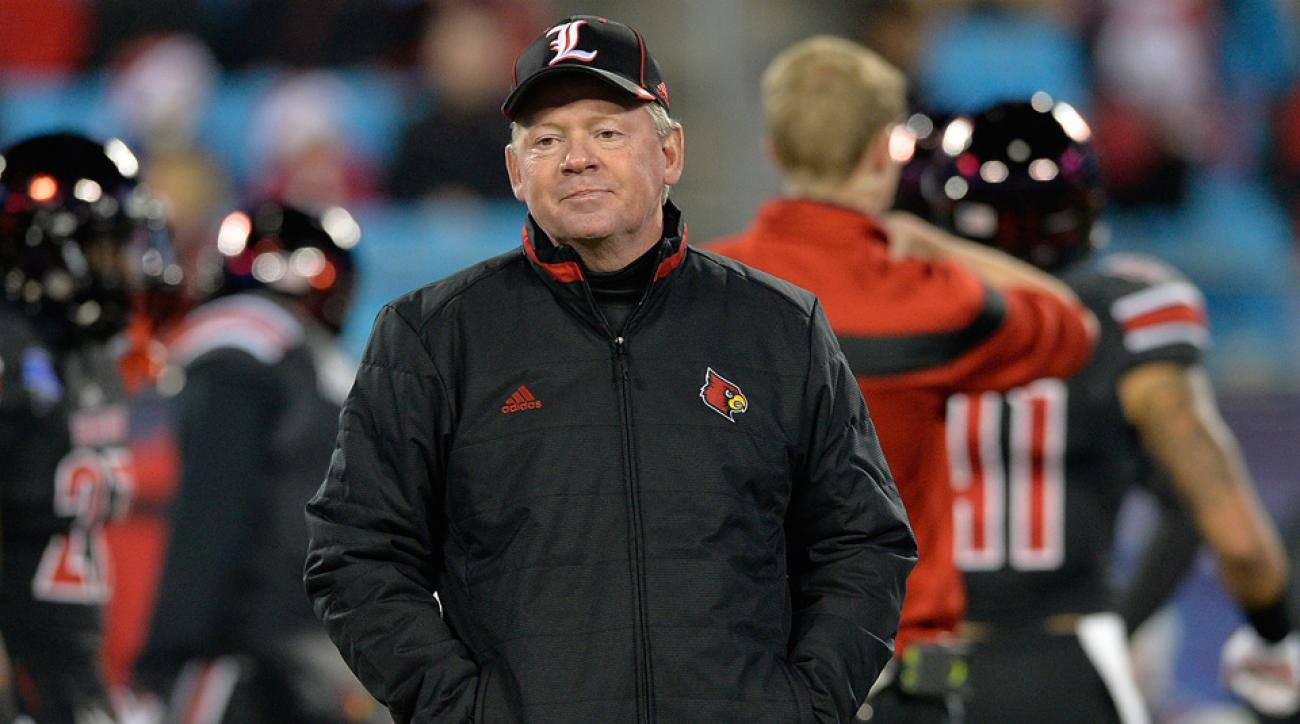 Louisville Cardinals' Bobby Petrino is banned from recruiting at a South Carolina high school.