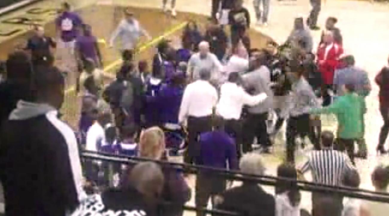 Watch: Brawl at Indiana high school basketball game