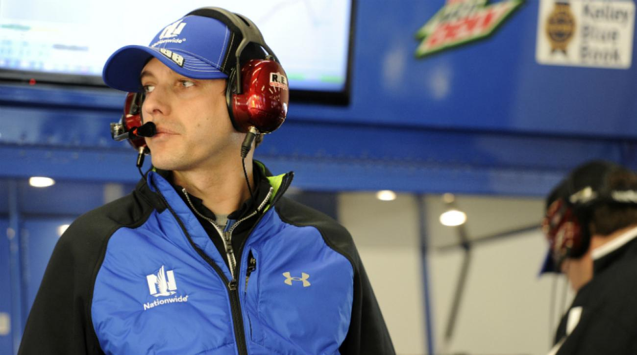 Greg Ives, Dale Earnhardt Jr.'s crew chief. Ives' nephew survived a fiery crash Saturday.