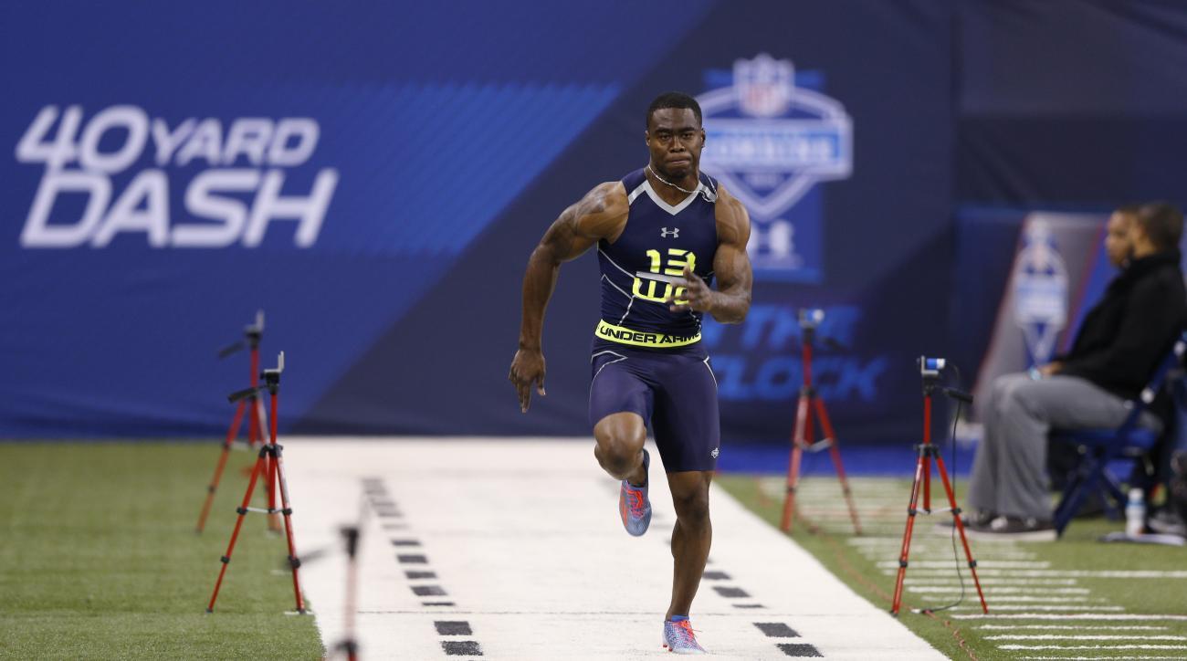 Brandin Cooks ran the fastest 40-yard dash at the 2014 combine.
