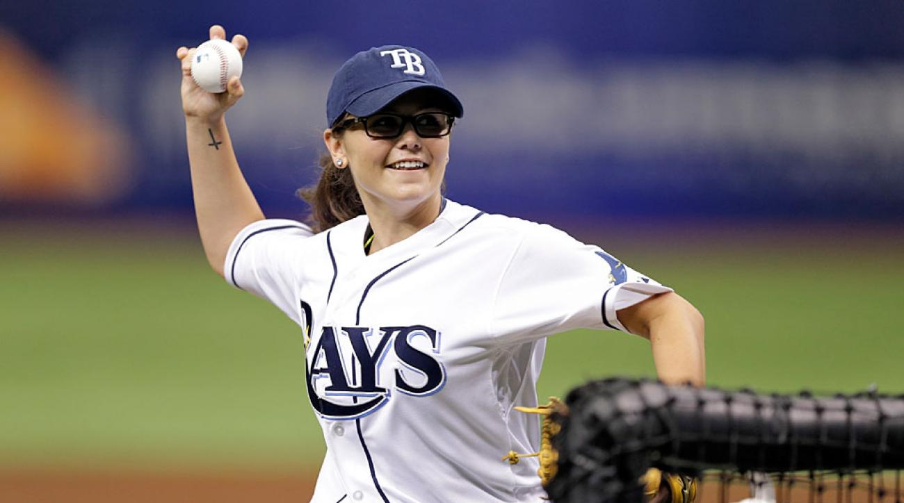 Chelsea Baker threw batting practice to the Tampa Bay Rays last season and raised a few eyebrows.