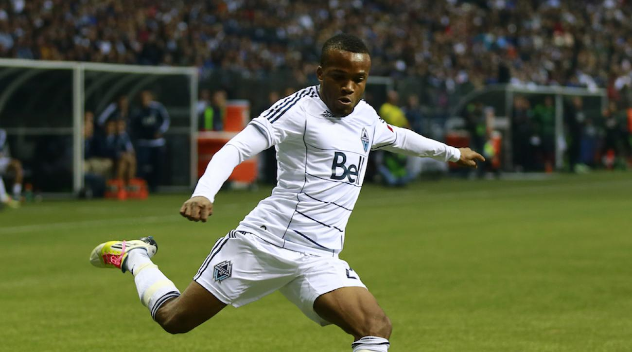 Dane Richards in a 2012 game for the Vancouver Whitecaps.