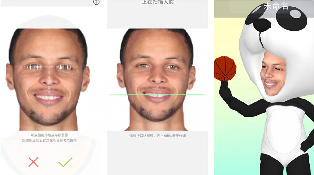 Here's Golden State Warriors guard Stephen Curry, made with the MyIdol app.