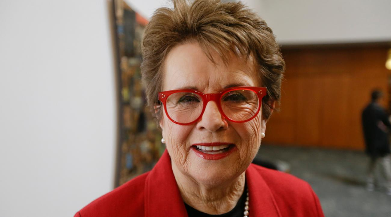 Tennis great Billie Jean King
