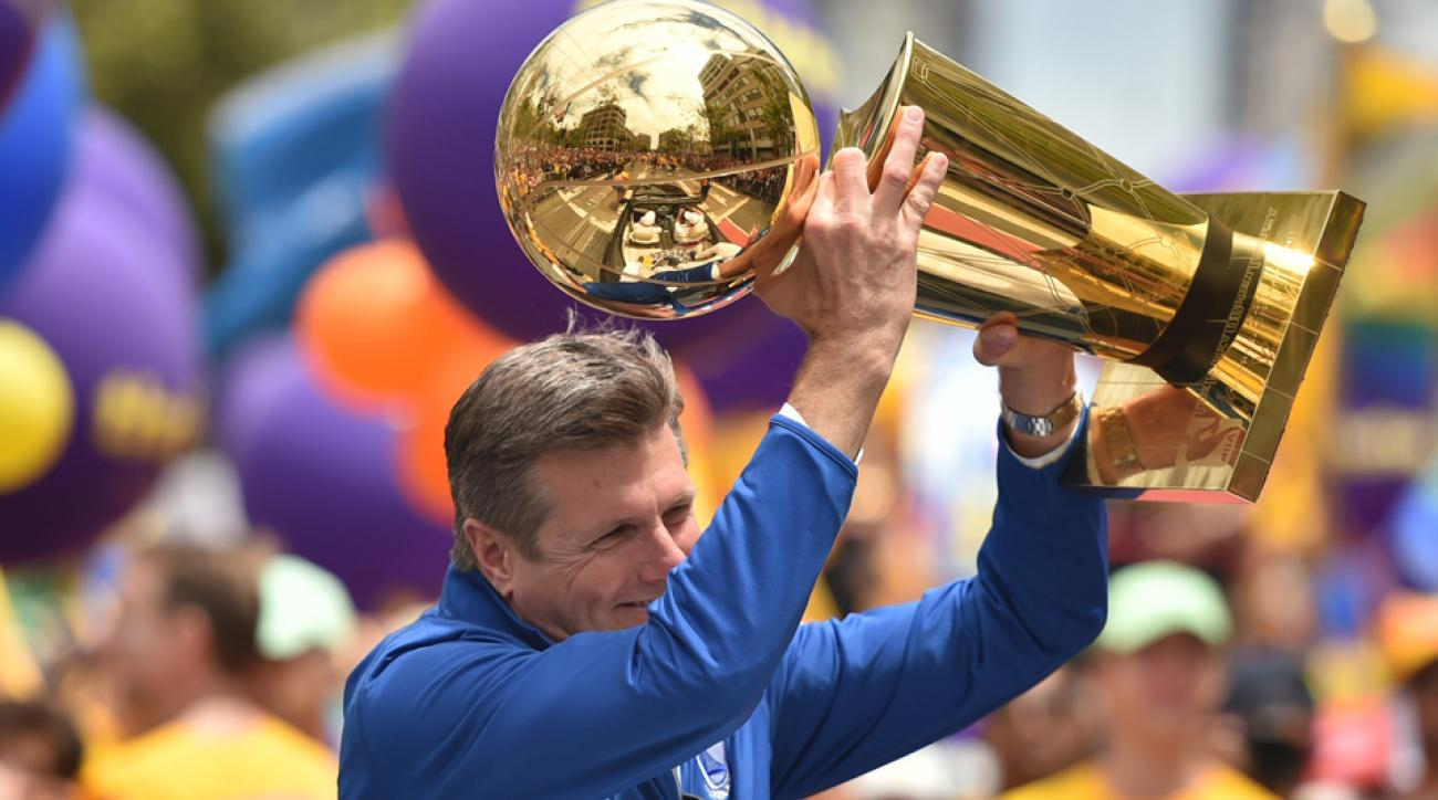 Warriors president Rick Welts discussed his team's championship on the panel.