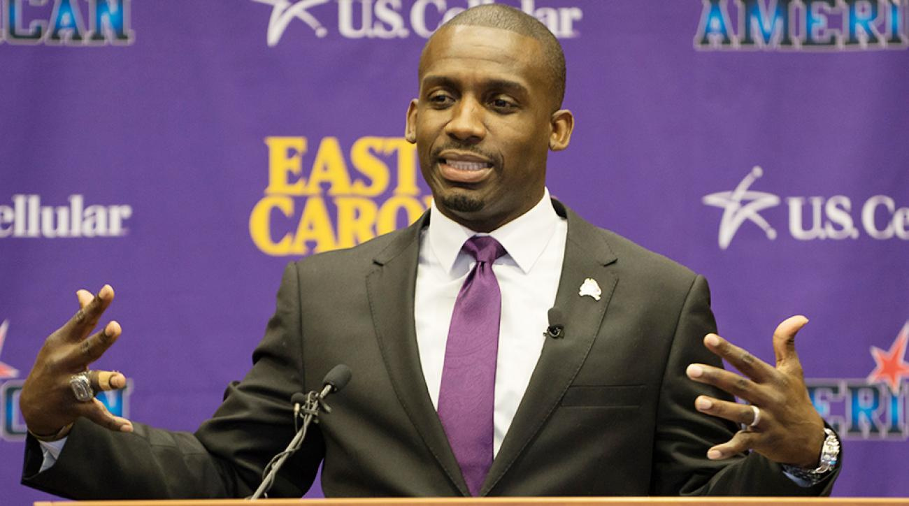 Ryan Anderson joins the staff of new East Carolina head coach Scottie Montgomery (pictured).