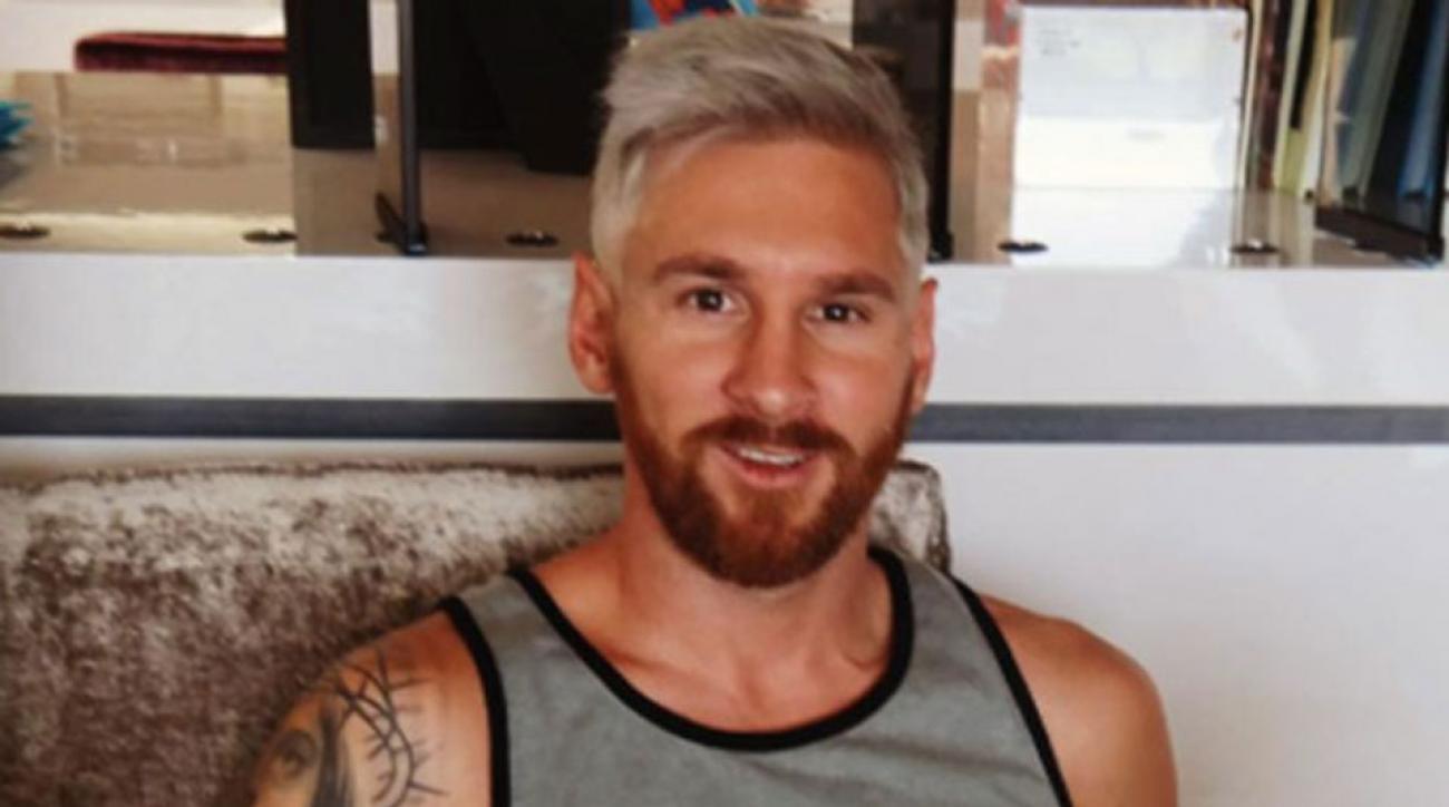 Leo Messi's new hairstyle revealed by Antonela Roccuzzo on Instagram