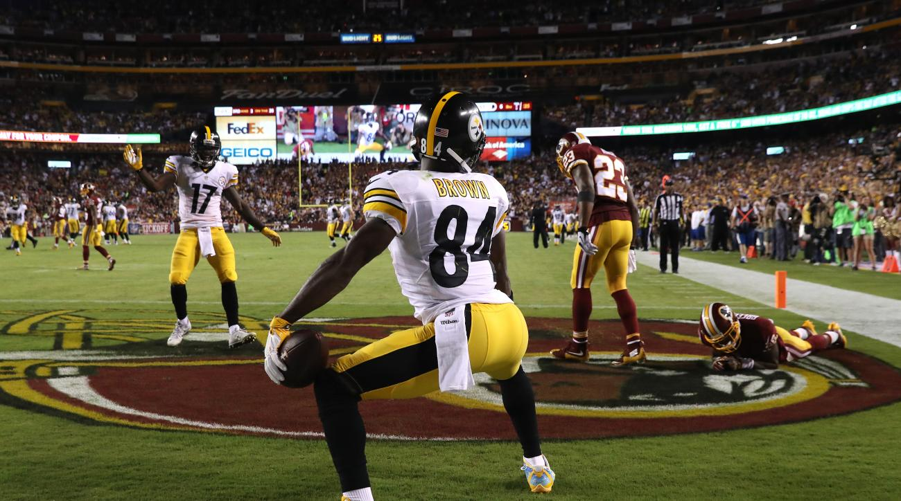 Apparently the NFL isn't a fan of suggestive dance moves. Antonio Brown's Week 1 twerking celebration led to a $12,154 fine. Another hip-thrusting dance after a score against the Chiefs in Week 4 cost him $24,309.