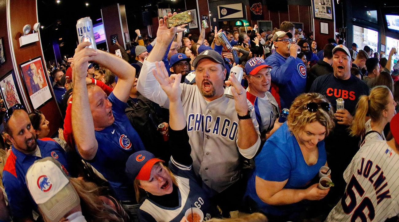 Image result for chicago cubs people wearing ridiculous club outfits world series