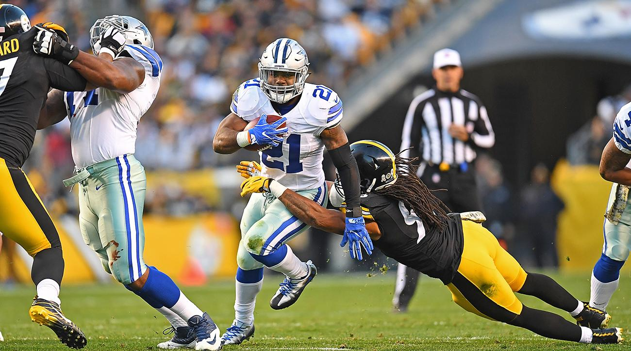 Elliott is the NFL's only 100-yard-per-game rusher....
