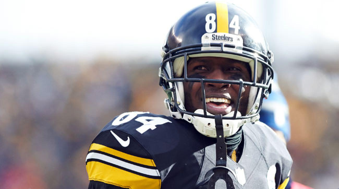 Pittsburgh Steelers wideout Antonio Brown.