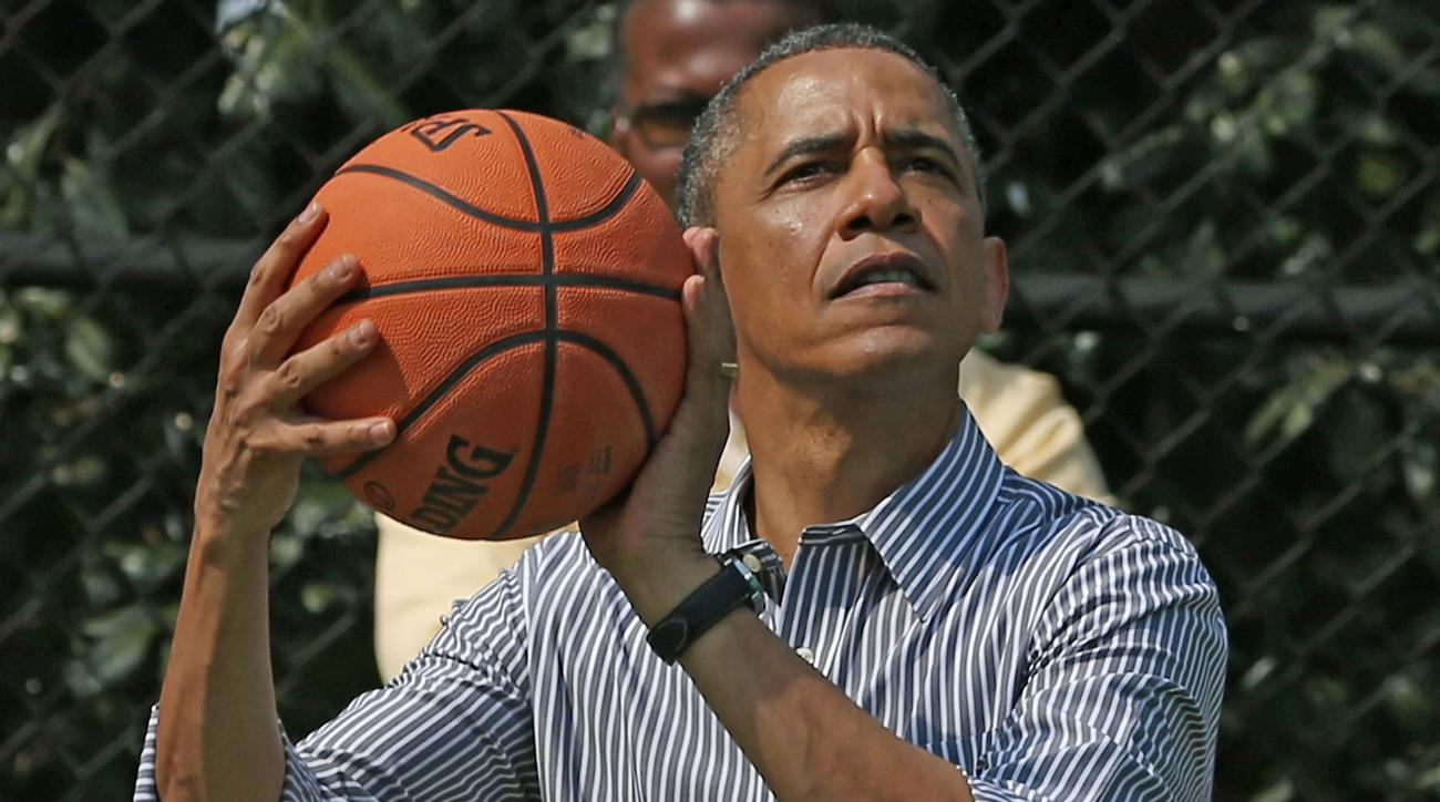 President Obama hit two game winners on Election Day 2016.