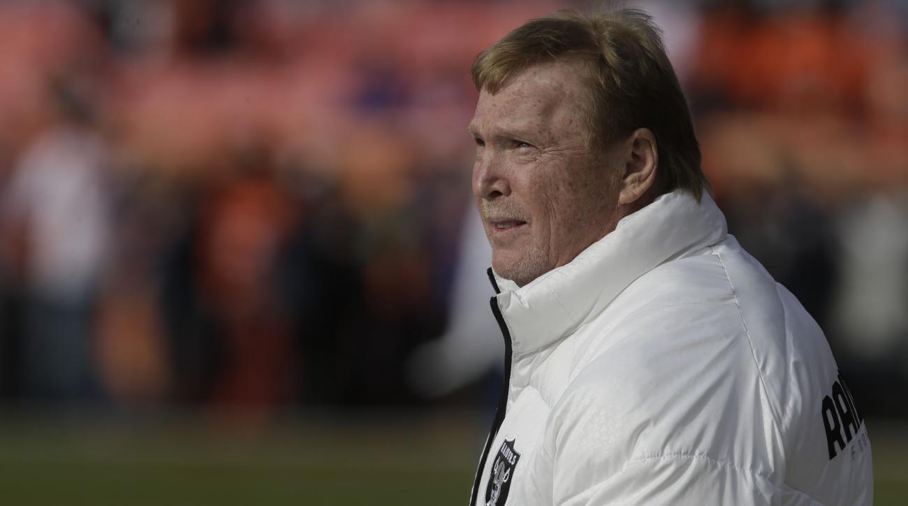 The Raiders filed paperwork to move to Las Vegas.