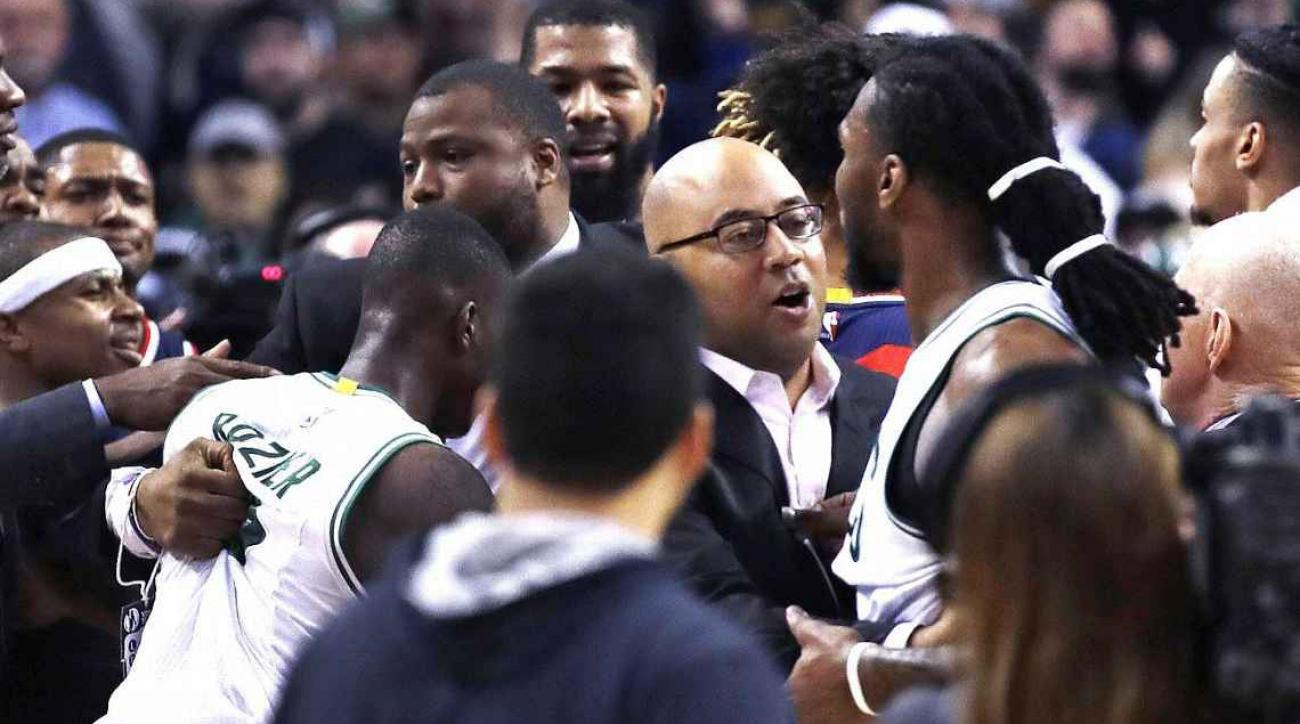 Marcus Smart argues with Celtics coaches during embarrassing loss to Wizards