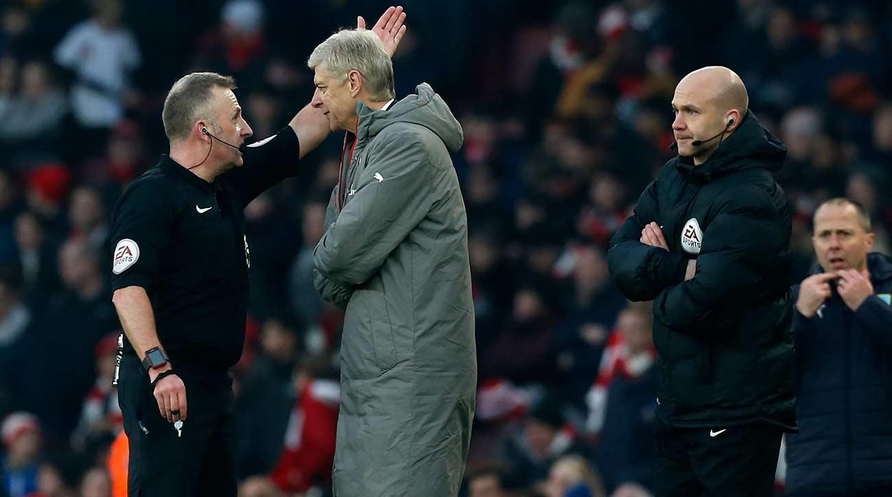 Wenger Accepts FA Charge For Pushing Fourth Official Anthony Taylor
