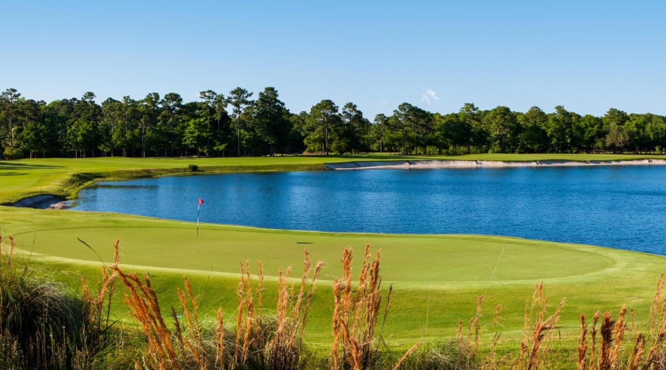 The final hole at True Blue Golf Club offers one last chance at glory.